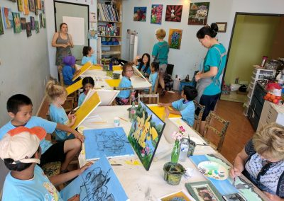 Fremont Summer Camp - Canvas Painting Project - Green Forest Art Studio