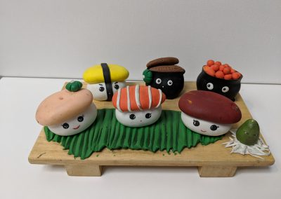 Fremont Kids Art Birthday Party - Sushi Clay Project