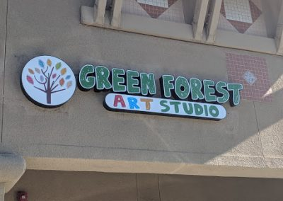 Fremont Art Classes - Green Forest Art Studio - Exterior Sign